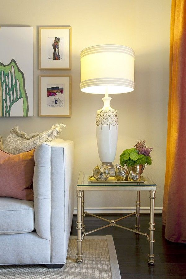 Base Of The Table Lamp Must Be On Par With Your Eye Level When You Sit