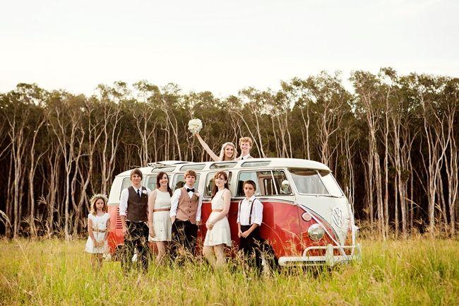 Wedding day Kombi. Wedding transport. Luxury Kombi. DIY Kawana Beach Wedding | The Bride's Tree - Sunshine Coast Wedding