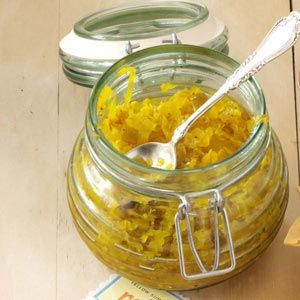Yellow Summer Squash Relish Recipe from Taste of Home -- shared by Ruth Hawkins of Jackson, Mississippi
