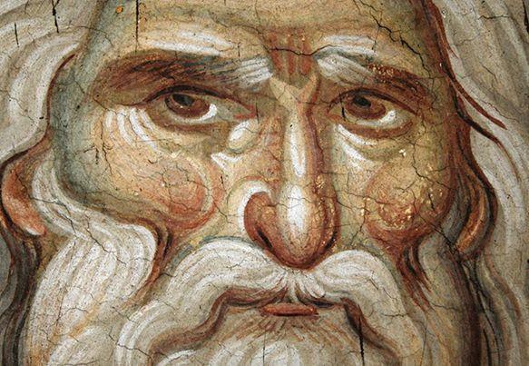 PROPHET ELIAS BY PANSELINOS, 1300. PROTATON, AGHIO OROS