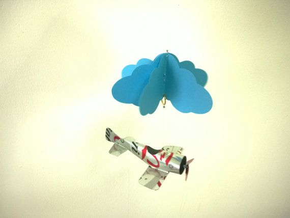 Mini mobile airplane soda can handcrafted.2 by JCwings on Etsy