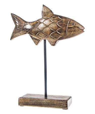 Look what I found on #zulily! 13'' Walnut Wood Fish Stand #zulilyfinds