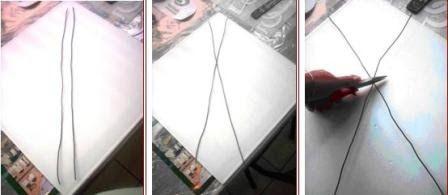 Duendes y muñecos articulados: cómo hacer la estructura de alambre                 Paso 1   Cortar dos tiras de alambre de igual medida,...