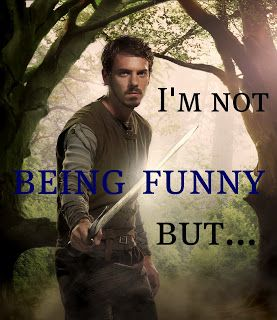 I always get excited whenever he says this. I know it's gonna be good! | Old-Fashioned Charm: Robin Hood (BBC TV Series)