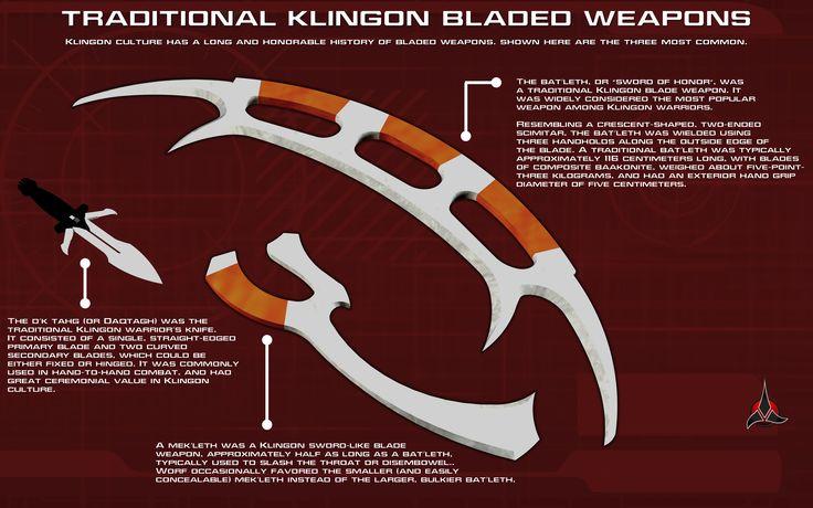 Klingon Bladed Weapons Tech Readout by unusualsuspex.deviantart.com on @deviantART