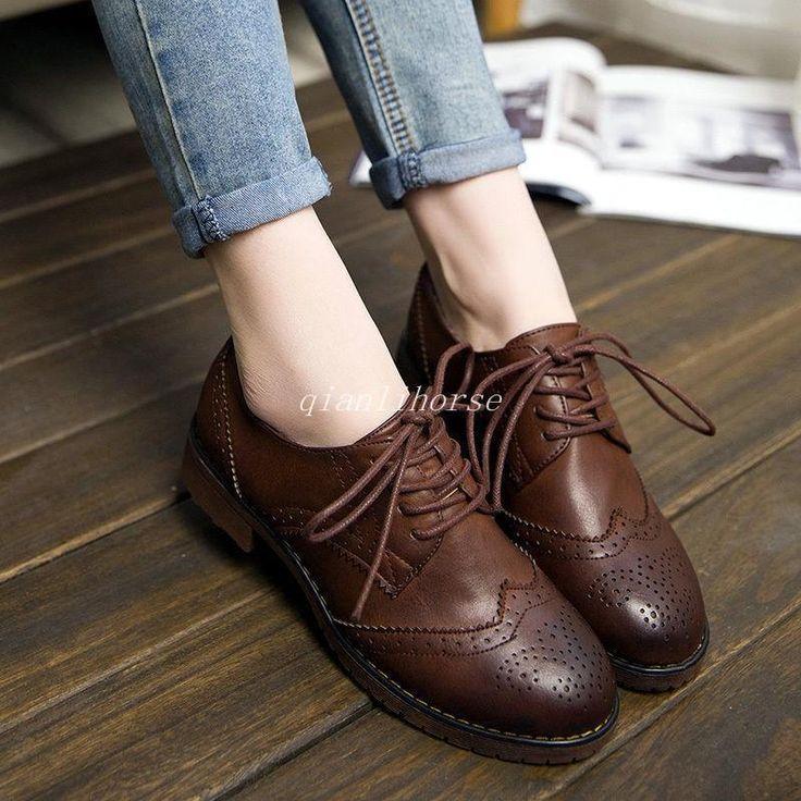Women Oxford Lace Up Shoe Toronto