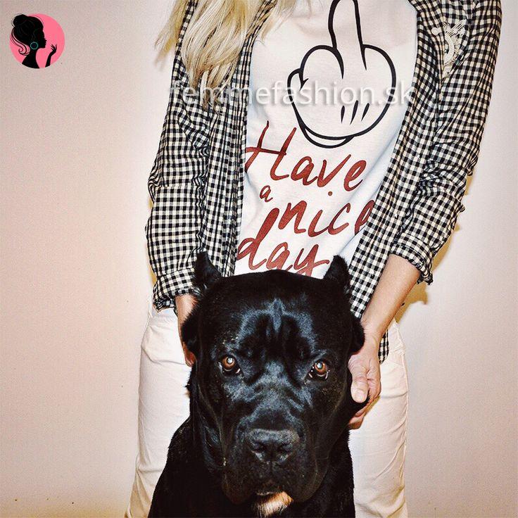 Tričko značky STYLE&DIRT - Have a nice day http://femmefashion.sk/styledirt/2684-tricko-have-a-nice-day.html