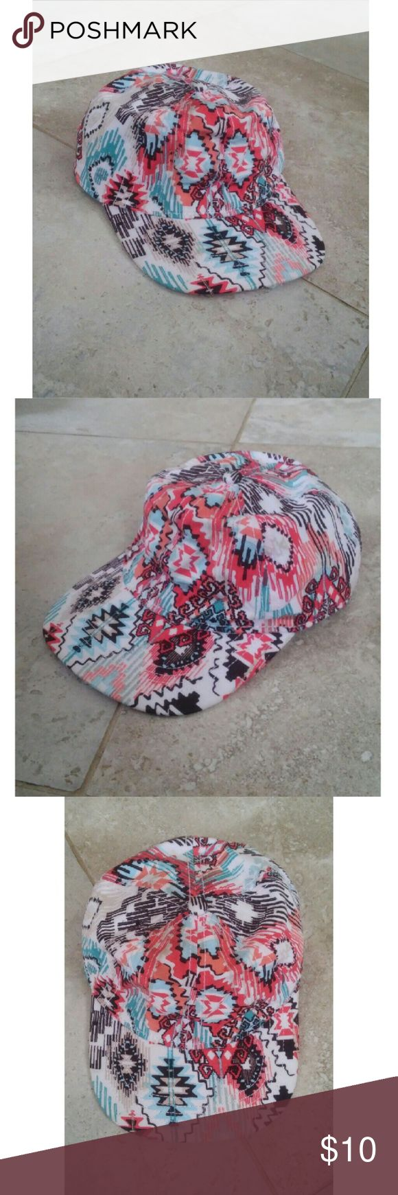 Aztec colorful design baseball cap hat Brand New WITHOUT tags!  Aztec design Colorful Baseball hat Accessories Hats
