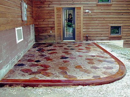 gorgeous stained concrete!  http://www.howtostainconcretefloors.com/