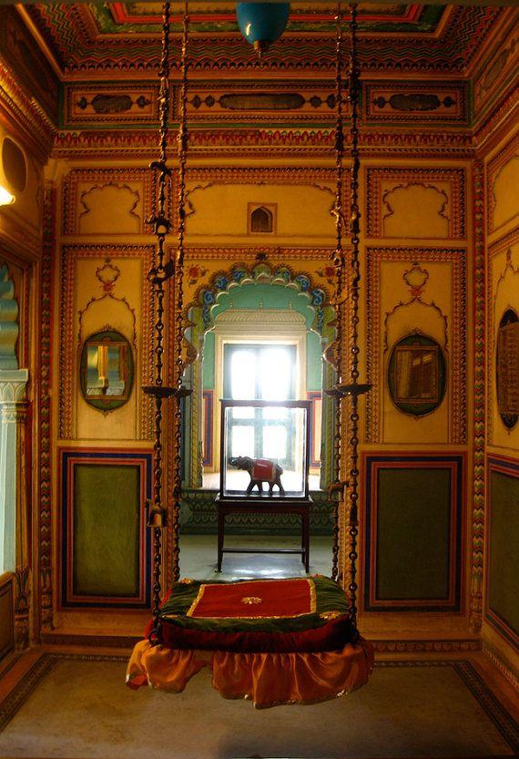 Royal Swing City Palace Udiapur Rajasthan India 8X10 Photograph chamelagiri.etsy.com