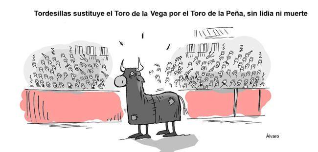 Viñeta: El Humor de Álvaro: El Toro de la Vega de Tordesillas