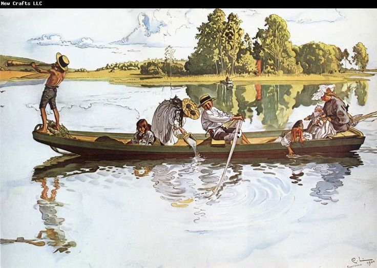 Carl Larsson On Viking Expedition in Dalarna