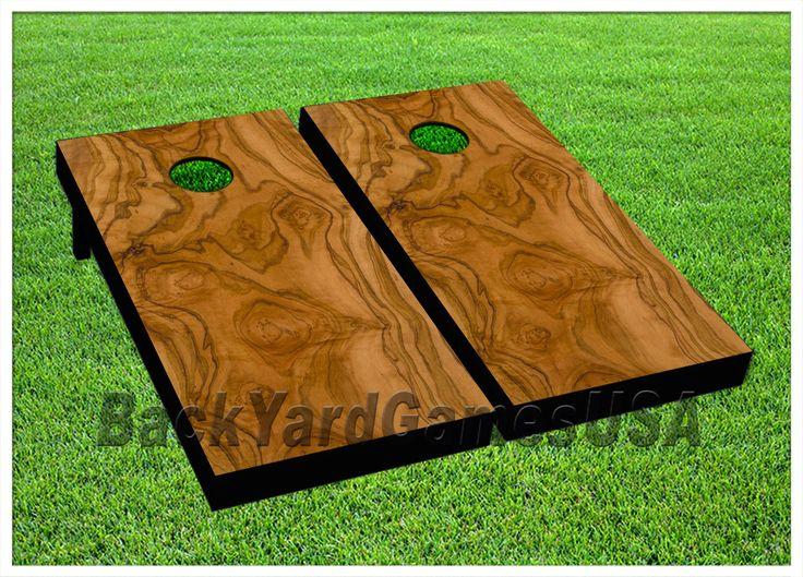 Cornhole Bag Toss 79791: Cornhole Light Brown Pattern Boards Beanbag Toss Game W Bags Set -> BUY IT NOW ONLY: $199.99 on eBay!