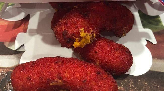 A Taste Test Of Burger Kings Flaming Hot Mac N Cheetos