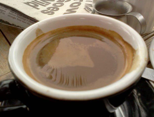 Mozaik Cafe, Orewa. Burnt tasting.