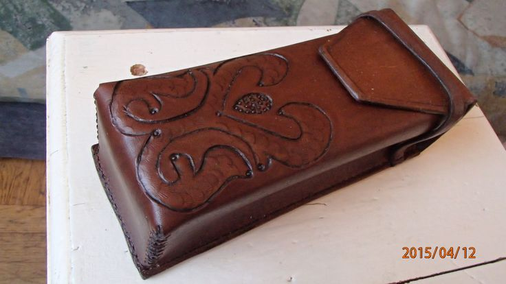 Handmade leather  pencil case by Paweł Wodziński