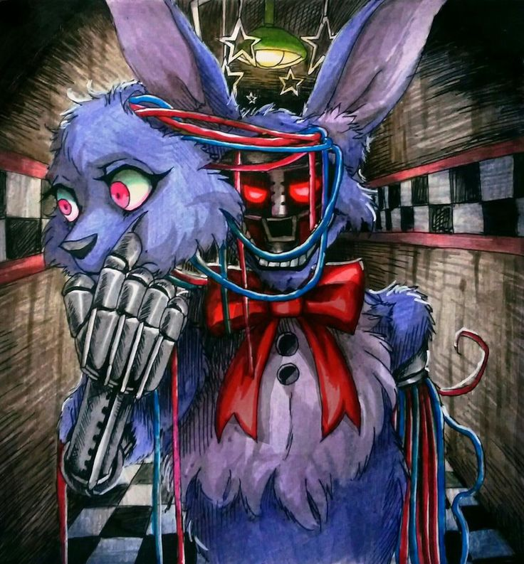 The mask of the lie / Withered Bonnie FNaF by Mizuki-T-A