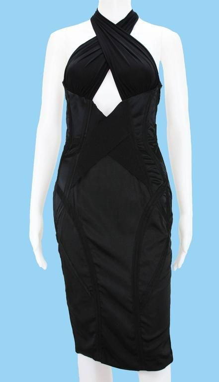 TOM FORD for GUCCI Runway F/W 2003 Collection  Black Corset Dress