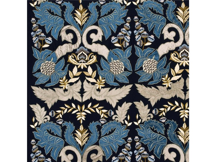 Constantine in indigo teal by mullberry home via kravet for Mullberry home