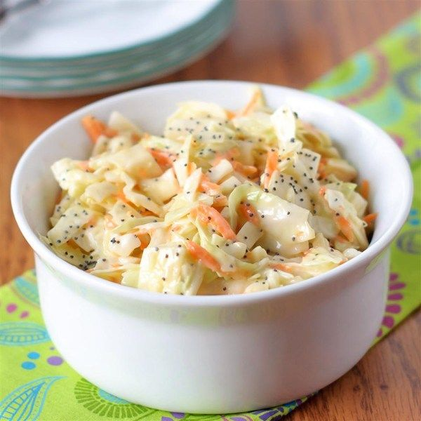 "Sweet Restaurant Slaw I ""I made this yesterday for a fish fry. Everyone loved it! Several commented that it tastes just like KFC coleslaw! Easy and delicious!"""