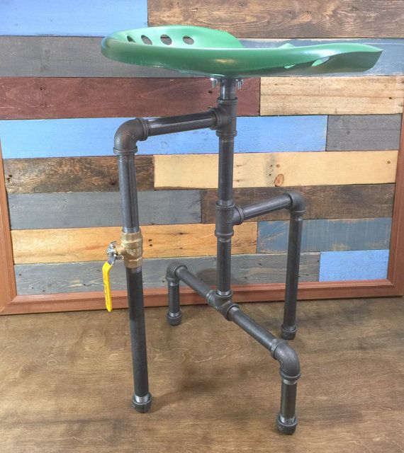 Tractor Seat Bar Stool Industrial Stool  Man by TheCleverRaven