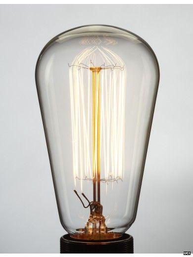 Pear shape traditional filament lightbulb