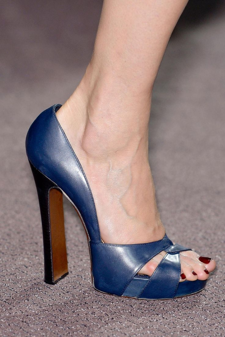 Blue Louis Vuitton open-toe heels #louis #vuitton