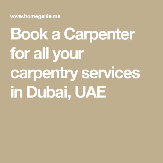 Book a Carpenter for all your carpentry services in Dubai, UAE