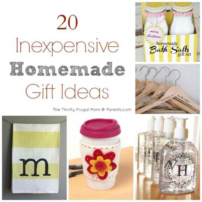 20 Inexpensive DIY Homemade Gift Ideas
