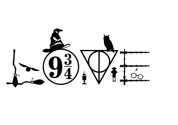 Love Harry Potter Decal Decal Available In Numerous