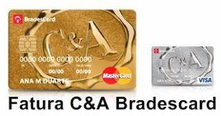 Bradescard C A Fatura Cartao De Credito Carta