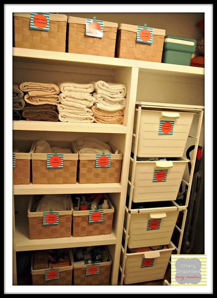 Marvelous Utterly Organised: Tips And Ideas On How To Organise Your Laundry Closet  And A Peek At Mine. Closest To What I Have In My Mind