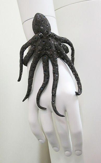 Bracelet, 2009. American. Silver. The Metropolitan Museum of Art, New York. Gift of Carol B. Grossman, in memory of Jane Stapleton, 2012 (2012.489). #octopus #jewelry