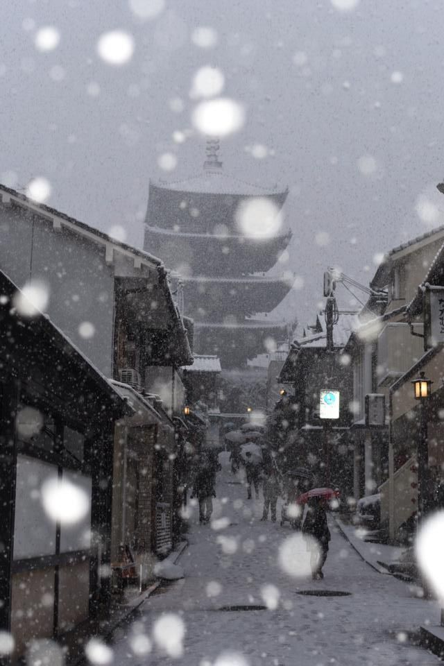 Snowy day in Kyoto, Japan | Komoriyama Yuzo
