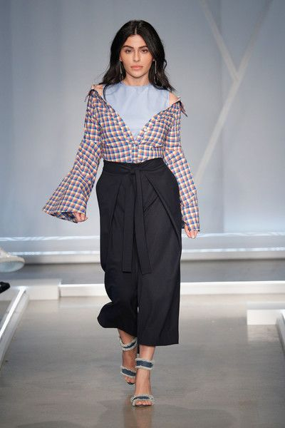 Teni Panosian walks the runway at the Who What Wear Runway Show at Skylight Modern on February 8, 2017 in New York City.