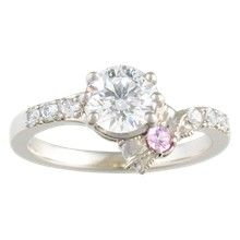 Pave Bow Engagement Ring - top view