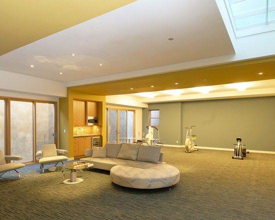 les 25 meilleures id es concernant d cor de salle de gym. Black Bedroom Furniture Sets. Home Design Ideas