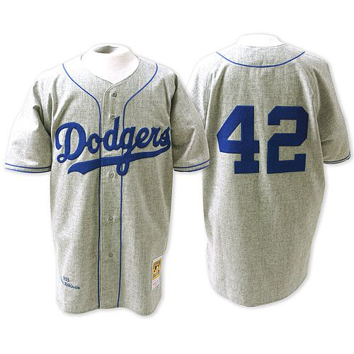 Brooklyn Dodgers Authentic 1955 Jackie Robinson Road Jersey by Mitchell &  Ness