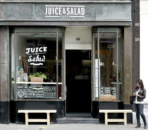 Interior design for Juice & Salad Bar Amsterdam (in collaboration with Johanneke Procee)