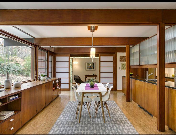 Milieu Du Siècle Architecte Interieur Cuisine Avec Des Matériaux En Bois