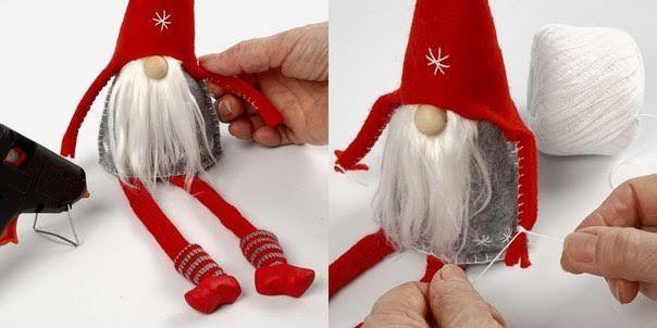 Duendes navideños en tela con moldes paso a paso   En esta temporada navideña, tu sitio Mimundomanual.com  te trae lindas manualidades navid...
