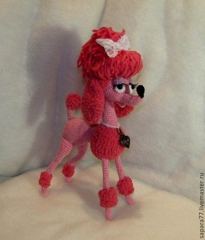 La Vie en Rose или Розовый Пудель - собака,собака игрушка,собачка,пудель