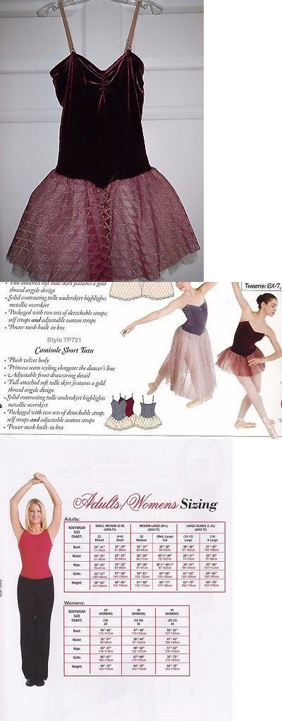 Other Adult Dancewear 112428: Nwt Body Wrappers Dance Ballet Velvet Short Tutu Burgundy Ivory Ladies M Tp721 -> BUY IT NOW ONLY: $38.39 on eBay!