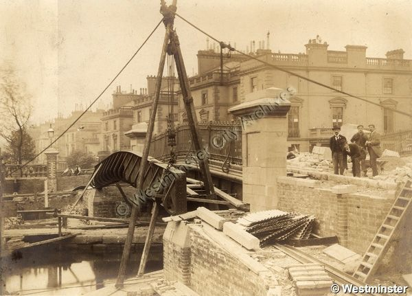 Construction of the new Bridge over the Grand Union Canal • Westbourne Terrace Road • 1900