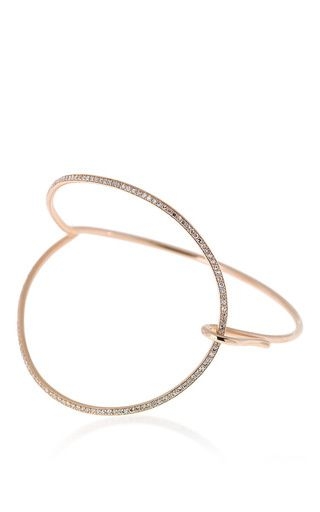 C'est dans l'air collection diamond and pink gold bracelet by SELIM MOUZANNAR for Preorder on Moda Operandi