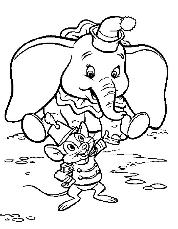 dumbo coloring pages dumbo flying - Dumbo Pictures To Color