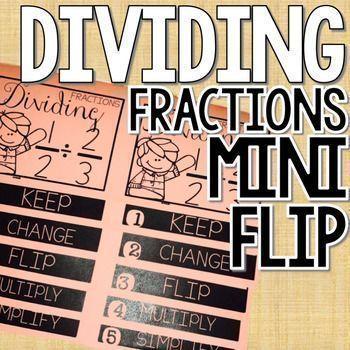 Dividing fractions mini flip book!