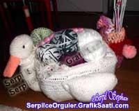 El sanatları - Örgü işleri: Kuğulu sepet. Örgü sepet nasıl yapılır Crafts - Knitting works: the birds basket. How to weave baskets