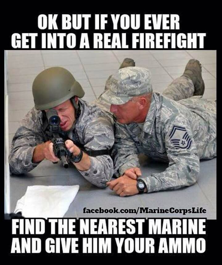 Marine Corps. Hahaha Dakota would love this