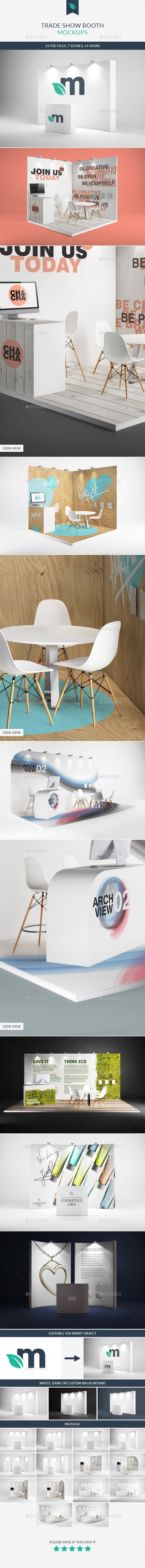 Trade Show Booth Mockups | #tradeshowmockup | Download: http://graphicriver.net/item/trade-show-booth-mockups/9273909?ref=ksioks